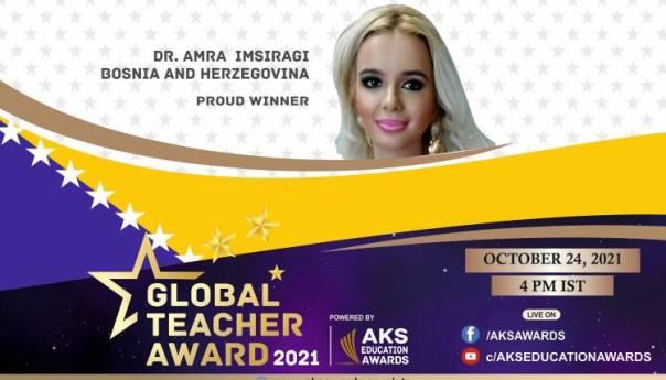 """Global teacher award"" za Amru Imširagić"